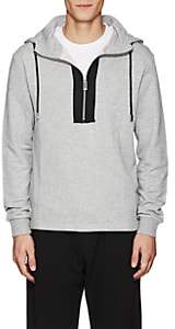 "Blood Brother MEN'S ""MADE"" COTTON-BLEND HALF-ZIP HOODIE - GRAY SIZE L"