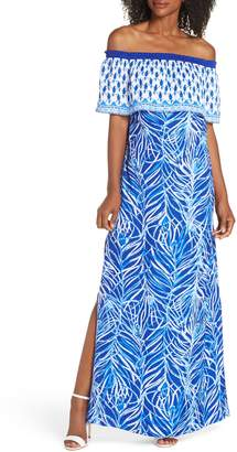 Lilly Pulitzer R) Alicia Off the Shoulder Maxi Dress