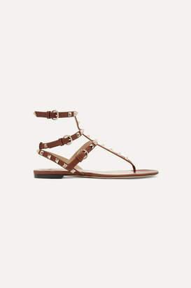 Valentino The Rockstud Leather Sandals