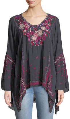 Johnny Was Wish Stitch Embroidered Tunic, Plus Size