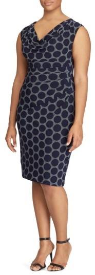 Lauren Ralph LaurenPlus Size Women's Lauren Ralph Lauren Dot Print Sheath Dress