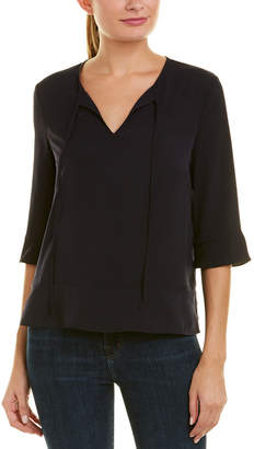 French Connection Classic Crepe Top