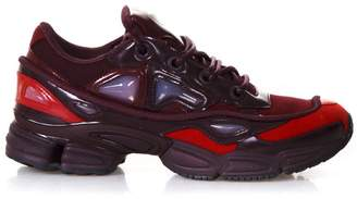 Adidas By Raf Simons Burgundy Rs Ozweego Sneakers By Raf Simons