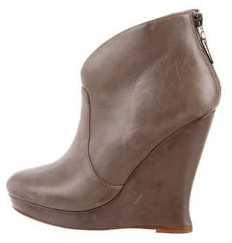 Alexandre Birman Round-Toe Ankle Booties