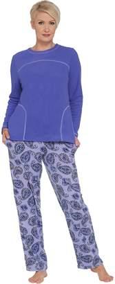 Stan Herman Petite Microfleece Personality Pajama Set