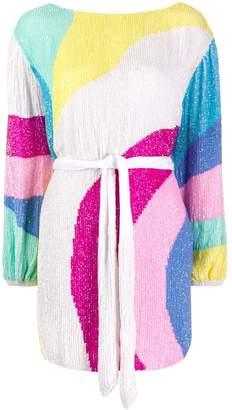 retrofete sequined mini dress