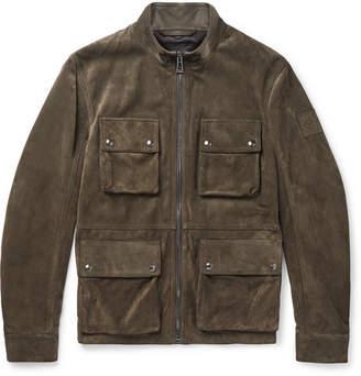 Belstaff Brad Suede Jacket - Men - Green