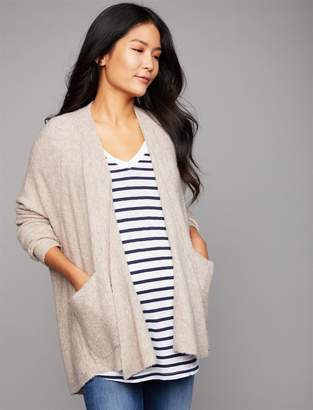 A Pea in the Pod Front Pocket Cozy Maternity Cardigan