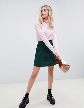 Asos Design DESIGN pleated mini skirt in jersey
