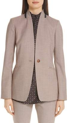 Lafayette 148 New York Darcy Plaid Jacket