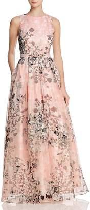 Eliza J Organza Floral Gown