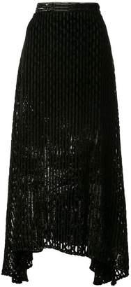 Rachel Comey Gimlet Burnout Lurex skirt