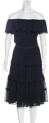 Alice by Temperley Off-The-Shoulder Knee-Length Dress $150 thestylecure.com