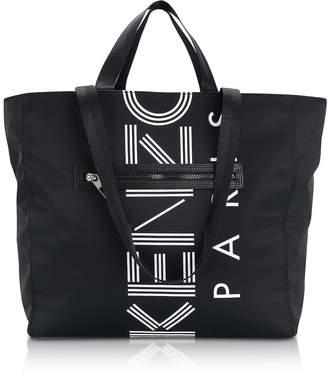 Kenzo Black Nylon Logo Tote Bag