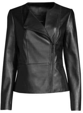 Elie Tahari Wilma Leather Jacket