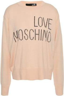 Love Moschino Studded Wool-blend Sweater