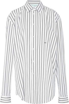 Off-White Striped Cotton-Poplin Shirt