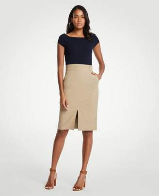 Ann Taylor Petite Pleated Waist Pencil Skirt