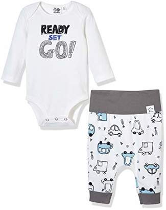 Silly Apples Baby Boys Cotton Blend 2-Piece Long-Sleeve Bodysuit Onesies and Pant Set (6M)