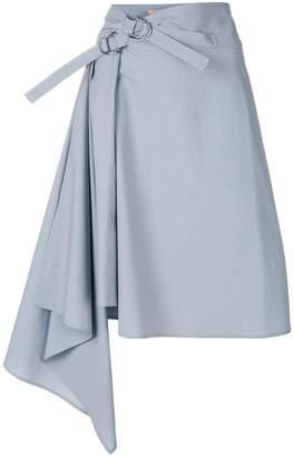 Drome buckle asymmetric skirt