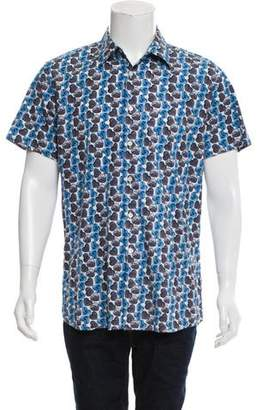 Prada Heart Print Button-Up Shirt