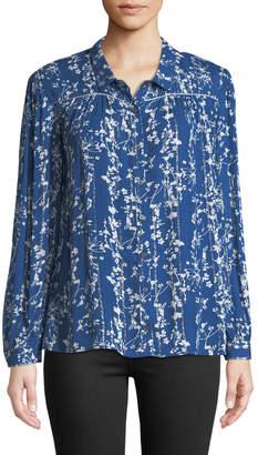 BA&SH Fiona Floral-Print Button-Front Shirt
