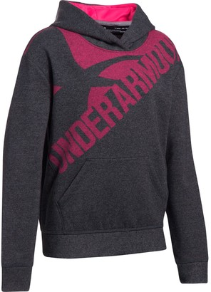 Under Armour Girls' UA Threadborne Printed Fleece Hoodie