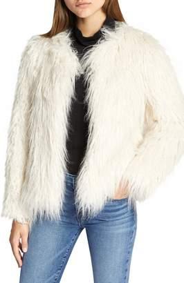 Sanctuary Studio Fifty Faux Fur Crop Jacket