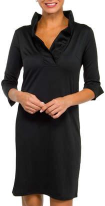 Gretchen Scott Ruffle Neck Dress