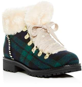Jack Rogers Women's Charlie Plaid Faux-Fur Cold Weather Booties