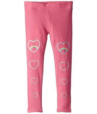 Chaser Glitter Hearts Cozy Knit Classic Leggings (Toddler/Little Kids)