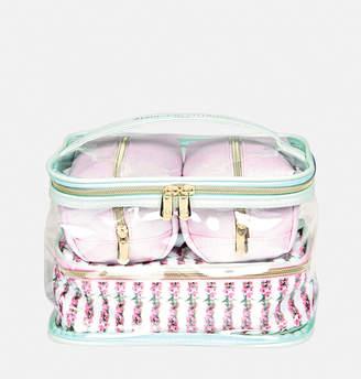 Avenue Floral Glitter Cosmetic Bag