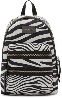 Marc Jacobs Black & Off-White Zebra Biker Backpack $225 thestylecure.com