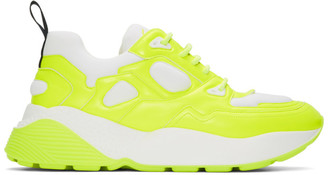 Stella McCartney White and Yellow Eclypse Sneakers