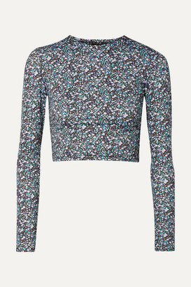 Matteau - Floral-print Rash Guard - Blue