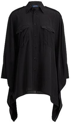 Polo Ralph Lauren Silk Poncho Shirt $245 thestylecure.com
