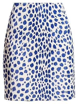 Akris Punto Women's Animal Print Mini Skirt