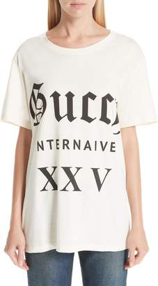 Gucci Guccy Internaive Print Cotton Jersey Tee