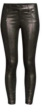 RtA Prince Metallic-Leather Skinny Pants