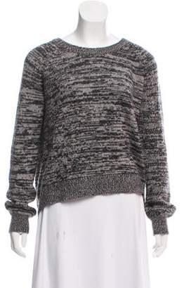 360 Cashmere Wool Knit Sweater Grey Wool Knit Sweater