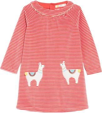 Boden Mini Fun Applique Velour Dress