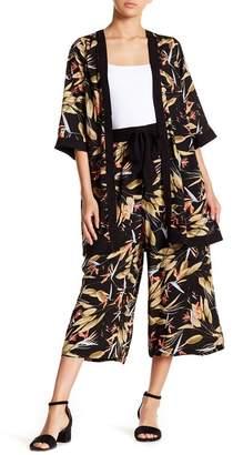 Hazel Tropical Tie Waist Culottes