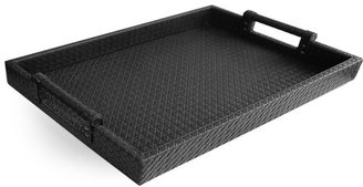 American Atelier Black Leather Tray