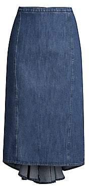 Michael Kors Women's Fishtail Denim Pencil Skirt