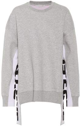 Stella McCartney Embellished cotton-blend sweatshirt