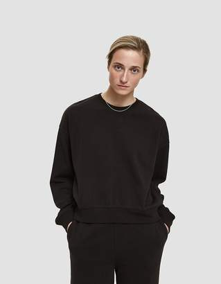 Stussy Ezra Cropped Baggy Crewneck Sweatshirt