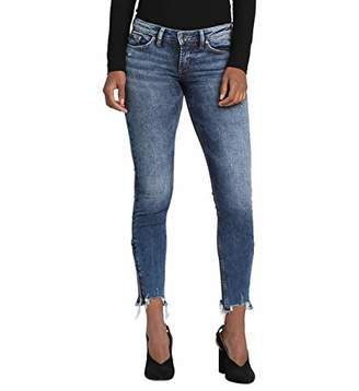 Silver Jeans Co. Women's Tuesday Low Rise Ankle Skinny Jeans