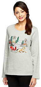 Factory Quacker Holiday Embroidered Long SleeveT-Shirt