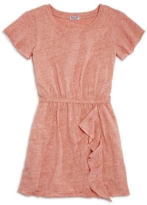 Splendid Girls' Melange Ruffled Shirt Dress - Big Kid