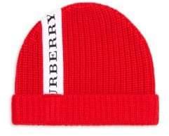 Burberry Kid's Horizontal Merino Wool Hat